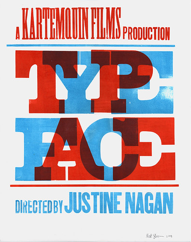 Typeface poster scan / Nick Sherman