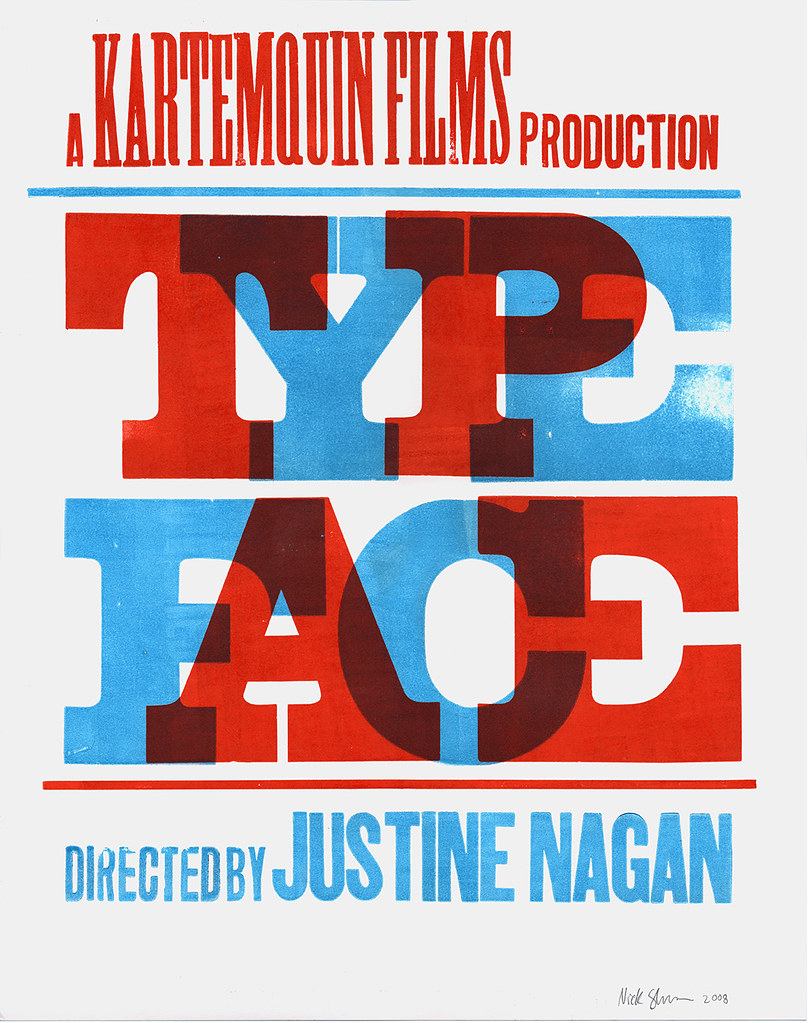 Typeface poster scan