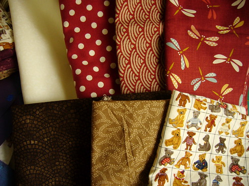 fabrics for ankes quilt.