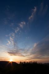 小樽天狗山に沈む夕陽