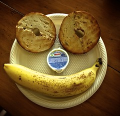 Come on, give us a smile! (janefk - slowly catching up :)) Tags: food usa philadelphia smile fruit cheese breakfast bread happy hotel myrtlebeach meals southcarolina banana bagel philly bagels hampton creamcheese happyface breaky philadelphiacreamcheese hamptongardeninn