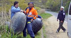 石巻再訪:浮きは重さ5~6キロか
