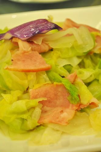 bacon with veg