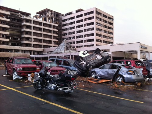 Cars after the tornado