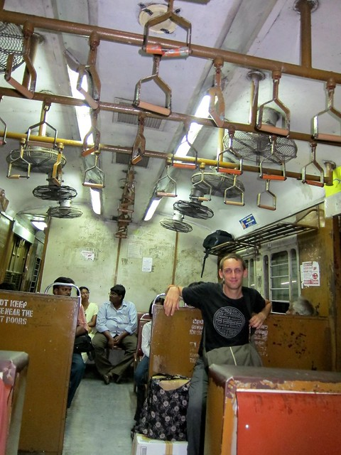 Boris On Local Train In Chennai