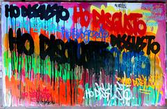 HO DISGUSTO. CYBERWASTE_MASSAKRE_MECCANCICO 06.2011 (MEDIOCRE_MASSAKRE) Tags: art graffiti italia colore post tag canvas cardboard marker drips ho giugno solid tempera grog vernice spary cartone disgusto 2011 uniposca colatura colature cyberwastemassakremeccanico