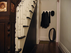 coat rack at the end of the hallway (Anna @ D16) Tags: victorian hallway entryway myhouse coatrack beadboard