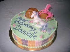 Fairy Horse cake (artisan macaronier and chocolatier) Tags: marzipan figures fondant rosemaries