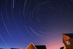 Suburban Swirls. (Steve Castle) Tags: sky night stars spiral big bestof angle dusk wide sigma swirl heavens 1020 plough startrails dipper polaris polestar stevecastle 2hours 277stackedjpegs nightbest