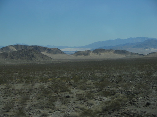Zone desertiche tra Nevada e California