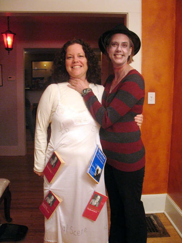 Here are Trac and Bridget. Bridget came as Freddy Krueger, and Trac ...