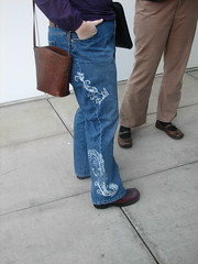 Great Stencil Bleached jeans (at She's Geeky)