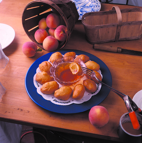 Peach Fritters with Maple Syrup