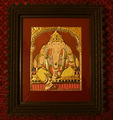 Sitting Ganesha (Tanjore) (Malathi Srinivasan) Tags: other some 8x10 if custom sizes apply required 6x8 10x12 24x26 exceptions 18x20 14x16 mostpaintingsavailablein4x5