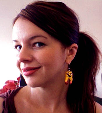 Amber Tamblyn wearing my RottenTooth Earrings