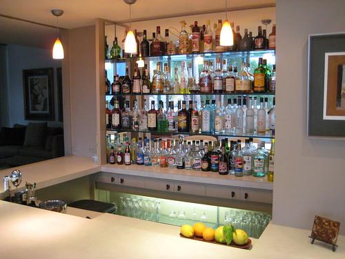 Sunken bar at the Cody House.