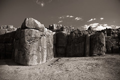 Fortified (tripowski) Tags: travel history peru southamerica rock inca cuzco temple nikon ruins fort cusco tamron fortress sacsaywaman instantfave 123bw d80