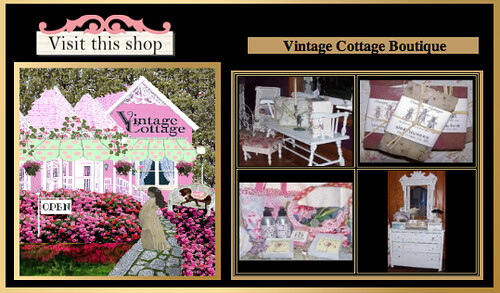 Vintage Cottage Boutique showcase at  www.beautifulshops.com