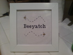 Beeyatch (thewindytree) Tags: crossstitch crafty subversive