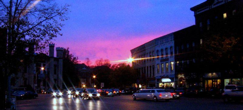 Sunset on Main St