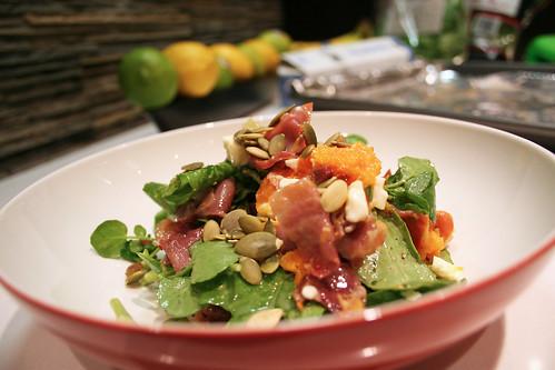 butternut squash & crispy prosciutto salad