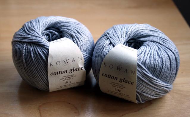 Rowan Cotton Glace yarn – 831 (light grey)