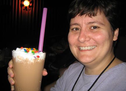 I drink MY milkshake.