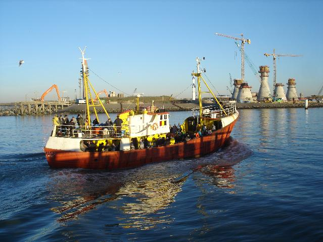 boat entering Ostend port