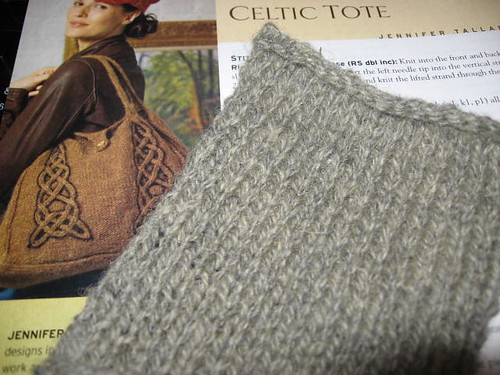 Celtic tote swatch
