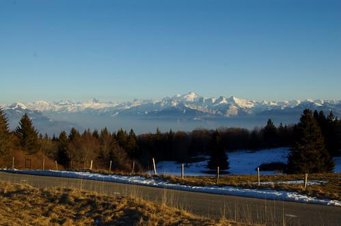 Alpes e Mont Blanc