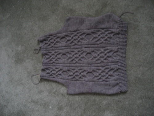 Cable vision cardigan