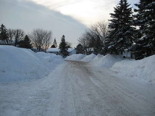 Looking down my street.
