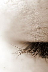 Keep Them Closed (Emmy Gee) Tags: sunlight eye sepia closed close mascara eyeshadow