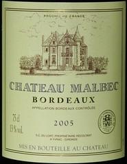 Chateau Malbec Bordeaux 2005