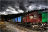 Some Trains Go Nowhere (Extra Medium) Tags: abandoned clouds train washington scenery colorful mtrainier hdr elbe firstquality 140000views