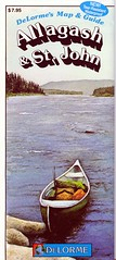 DeLorme's Allagash & St John River Map and Guide