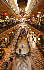 QVB (Flickr 365) Tags: city history clock shop architecture canon project cool flickr arcade sydney australia historic indoors nsw 100views inside 365 qvb georgestreet 50views queenvictoriabuilding