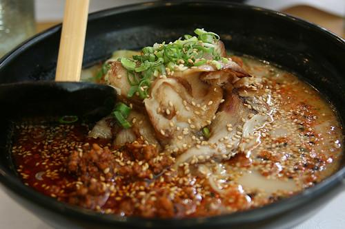 Photo & Comment:  Ajisen Ramen 02 (Premium Pork Ramen with Spicy Pork) by crazybluepanda