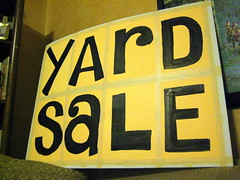 Yard Sale Sign by sheasy