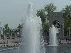 Fountains at WWII Memorial