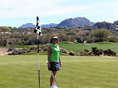 Troon North Pinnacle #1 z cheryl on green 373 (tewiespix) Tags: troonnorth golfcourse golf pinnacle phoenix scottsdale arizona
