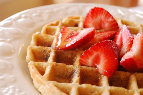 whole wheat and oatmeal waffle