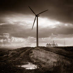Wind Turbine - Methil Energy Park (gregheath) Tags: clouds square coast scotland fife windturbine methil gregheathportfolio