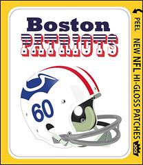 NFL Helmet Sticker Patriots-bj (bncjones) Tags: nfl stickers topps cfl expansion helmets wfl fleer nationalfootballleague usfl gumballking dunruss fleerstickerproject prototypehelmets