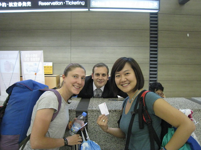 With a nice Turkish man at Incheon Airport