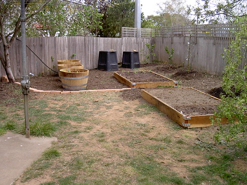 The vegetable patch. Finished it is.