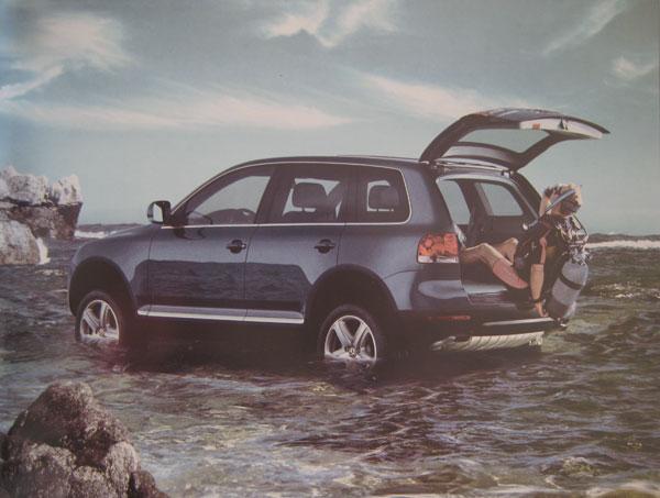 VW Tuareg Scuba Ad