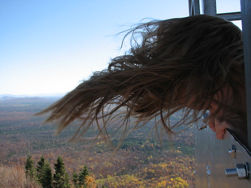 Windy on top of the fire tower