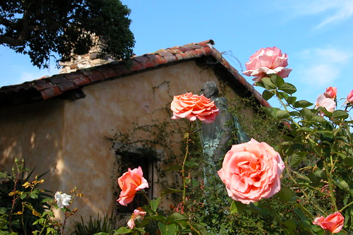 Missions Carmel (here) and San Juan Bautista have the most beautiful flower gardens.