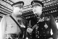 Two Field Marshals: Ayub Khan with Sir Claude Auchinleck